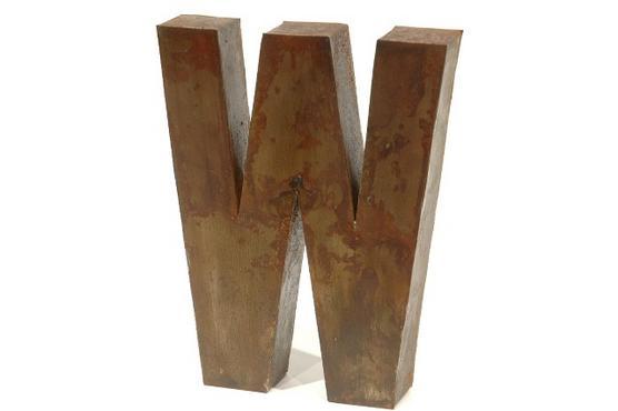 """Metal Sign/ヴィンテージアルファベットサイン """"W"""""""