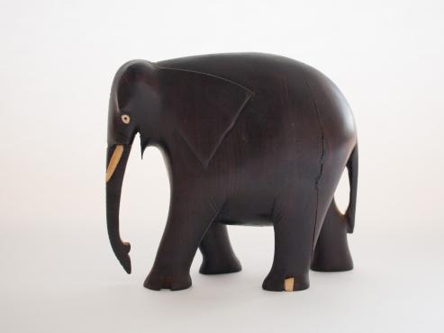 Wooden Elephant L