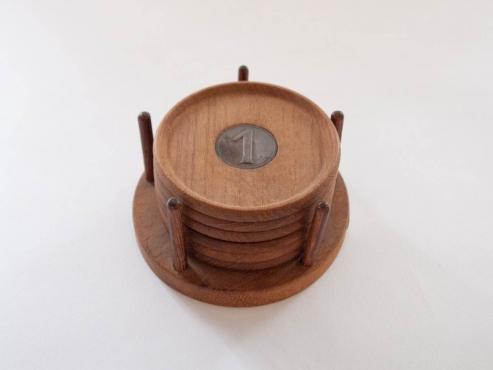 木製コースターセット/ H Sundelius (スウェーデン)