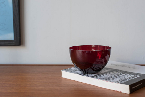 Glass/Bowl/Red