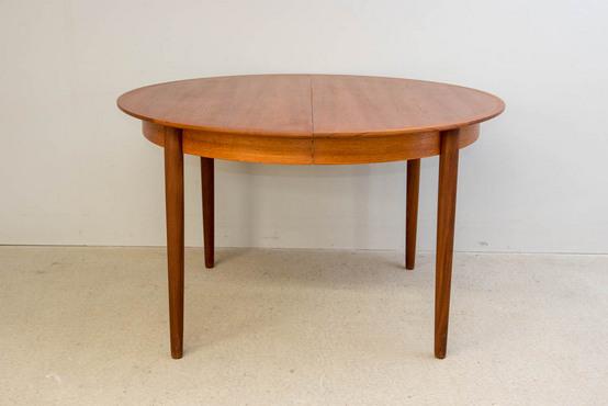 ラウンドダイニングテーブル/チーク Φ122