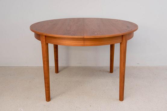 ラウンドダイニングテーブル/チーク Φ116