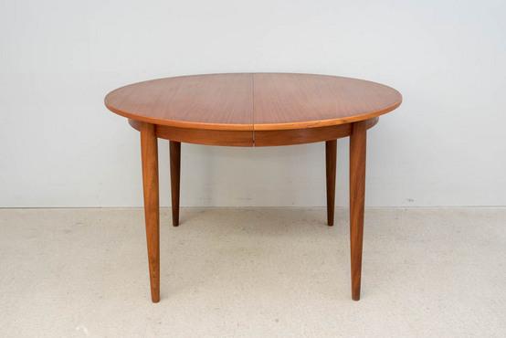 ラウンドダイニングテーブル/チーク Φ115