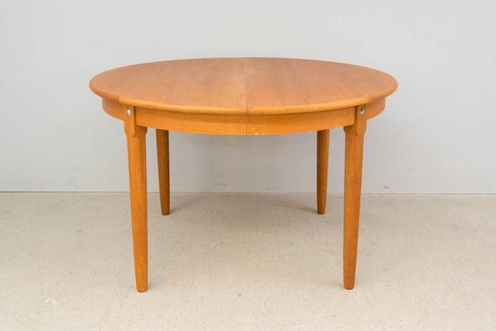 ラウンドダイニングテーブル/オーク Φ119