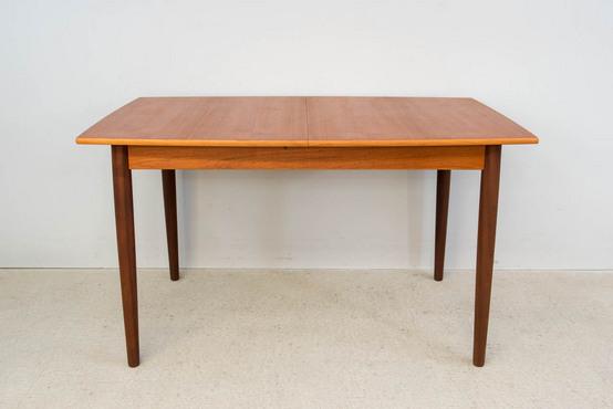 ダイニングテーブル/リーフ内蔵/チーク